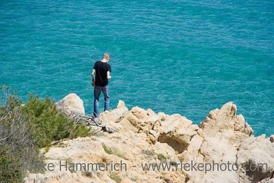 teen on the rocks - gulf of saint-tropez, french riviera - adobe RGB