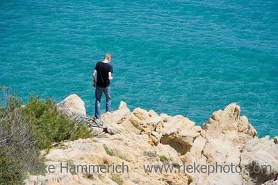 teen on the rocks - gulf of saint-tropez, french riviera - adobe RGB
