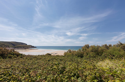 View over Ecalgrain Beach - Cap de la Hague, Basse Normandy, France, Europe