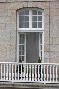 Window and balcony in a traditional house - Saint-Malo, Brittany, France