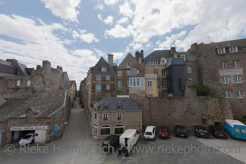 SAINT-MALO, FRANCE - JULY 6: High angle view of Intra Muros, the old town of Saint-Malo, France on July 6, 2011. Today Saint-Malo is the main tourist attraction of Brittany in France.