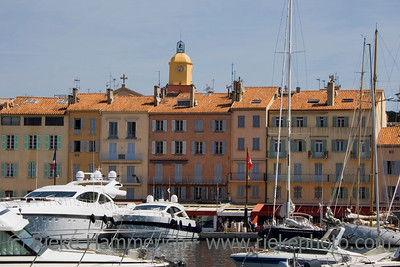 luxury yachts in the port of saint-tropez - french riviera, mediterranean sea - adobe RGB
