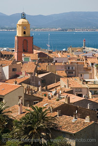 panorama of saint-tropez - in the past a smalll fishing village, but today a meeting place of celebrities on the french riviera, mediterranean sea