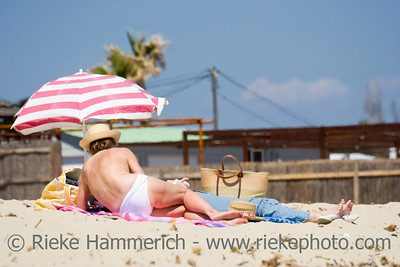 people at the beach of pampelonne - saint-tropez, french riviera - adobe RGB