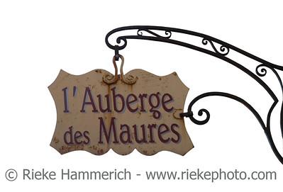 ancient signboard in france - english translation: hotel de moors - adobe RGB