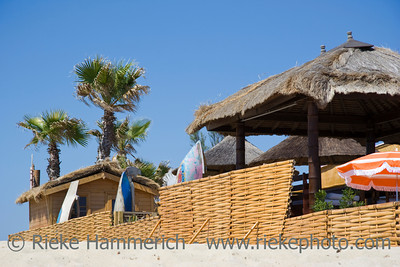 beach huts in saint-tropez - french riviera, mediterranean sea - adobe RGB
