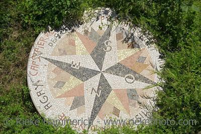 ancient compass rose - saint-tropez, france - adobe RGB