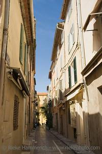 narrow alley - saint-tropez, french riviera - adobe RGB