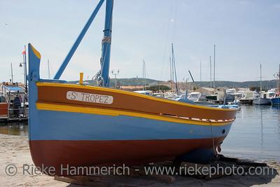vintage boat in saint-tropez - french riviera, mediterranean sea - adobe RGB