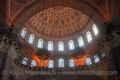 Interior of Yeni Cami Mosque in Istanbul - Eminonu, Istanbul, Turkey, Europe