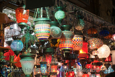 Traditional Turkish Lanterns for Sale - Grand Bazaar in Istanbul, Turkey, Europe
