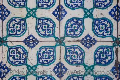 Iznik Tiles in Istanbul - Yeni Cami Mosque, Eminonu, Istanbul, Turkey, Europe