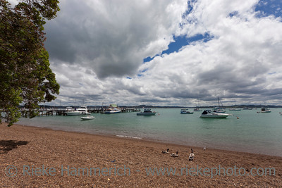 Beach of Russell and Bay of Islands - Panorama in Northland, North Island, New Zealand