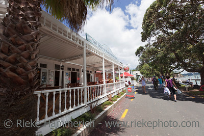 Seaside Promenade and famous Hotel in Russell - The Duke of Marlborough Hotel in Russell, Bay of Islands, Northland, North Island, New Zealand