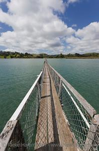 The Southern Hemisphere's longest Walk Bridge - Whananaki Estuary, Northland, North Island, New Zealand