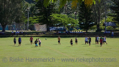 Teens playing Rugby – Rarotonga, Cook Islands, Polynesia, Oceania
