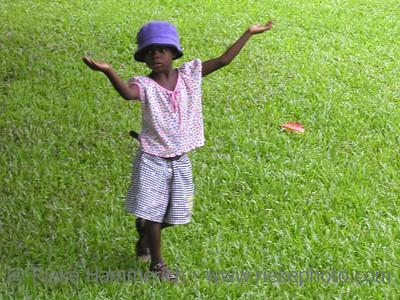 poor little girl - on a meadow