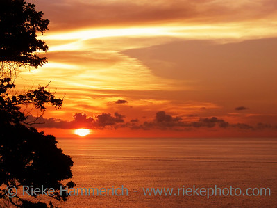 sunset over the caribbean sea - tobago, west indies