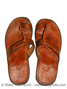 handmade leather thongs - shoemaking trade