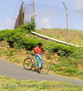 woman practising cycling - tobago, west indies