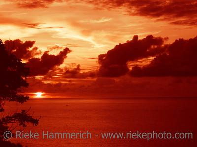 sunset over the ocean - tobago, west indies