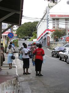 people talking in scarborough - tobago, west indies