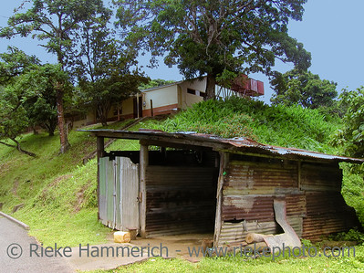 garage in a developing country- tobago, west indies