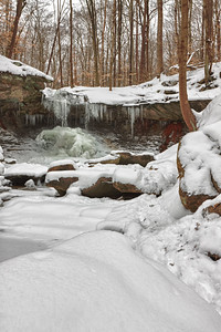Blue Hen Falls in the Cuyahoga Valley National Park (2012-02-12)