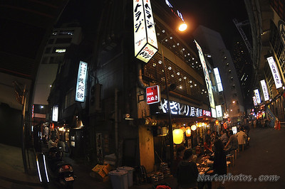 Alley-ways filled with outdoor eateries