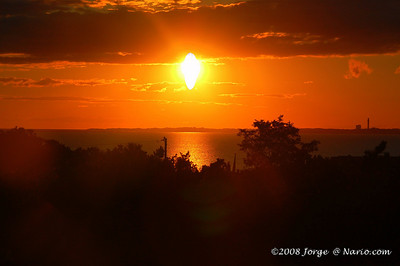 Sunset over the bay in Truro, Cape Cod