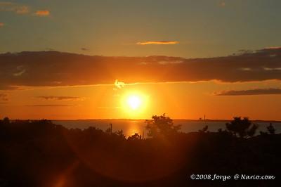 Sunset over the bay in Truro, Cape Cod