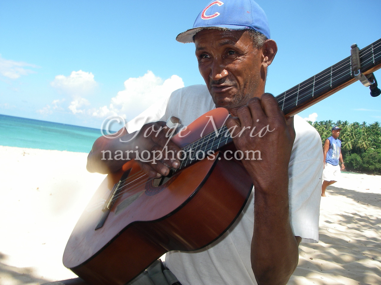we got serenaded as we had lunch Playa Grande