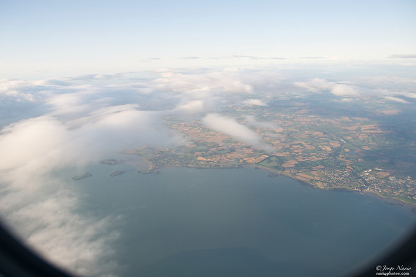 Ireland peering through the clouds