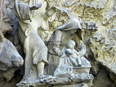 "Detail -SagradaFamiliaunfinishedCathedralBarcelona   2010-07-23_08-48-43 -Version2 """"Catedral Sagrada Familia Cathedral"""