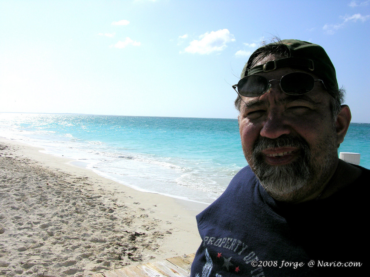 I dont shave when I'm on vacation - I call it my pirate look, my wife calls it something else.