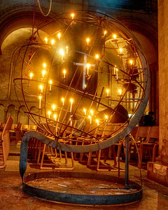 Globe of Candles in Norwich Cathedral