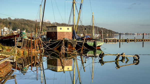Boats on the Medway at Upnor
