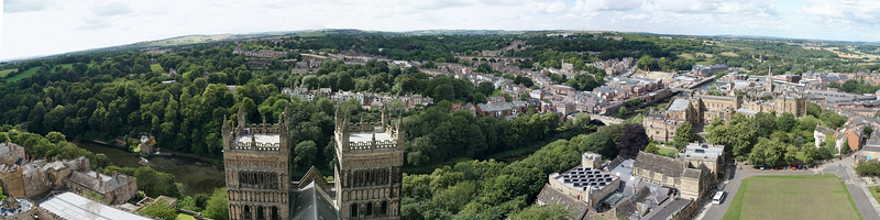 A Panorama from the Top of Durham Cathedral Tower