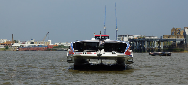 Catamaran on the Thames