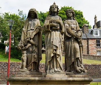 Three Virtues' statues - 'Faith Hope and Charity' by Andrew Davidson