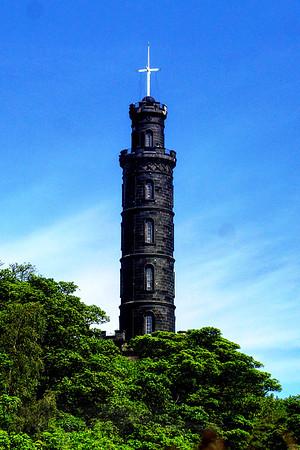 Nelson Tower on Carlton Hill - Edinburgh - Scotland