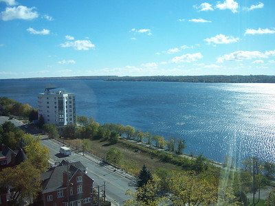 View of Kempfelt Bay - Fall 2010 - (white bldg is The Flamenco)