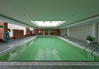 Pool, hot tub and sauna - mens and womens change rooms and showers - located on 2nd floor between the East and West Tower