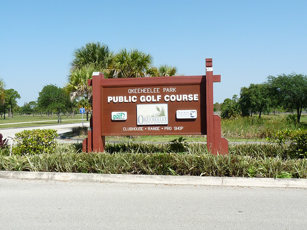 Okeeheelee Park Public Golf Course Sign
