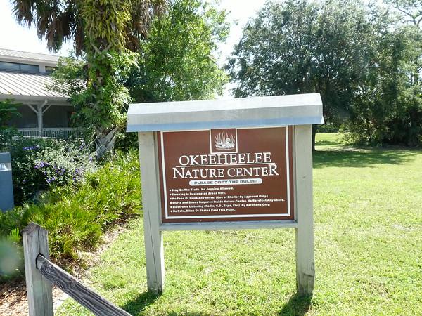 Okeeheelee Nature Center Sign