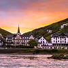 Sunset along the Rhine