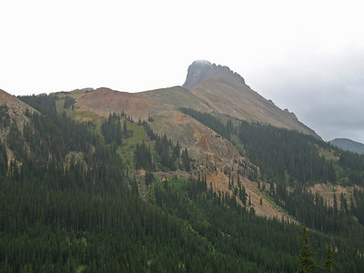 Coming down from Cameron Pass, CO headed west to Walden, CO.  Summer time and it's cloudy and a little dampish.