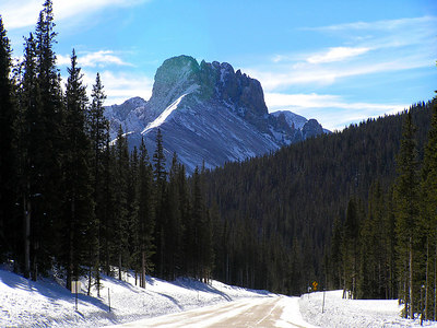 Another view, this time in winter, coming down from Cameron Pass, CO headed west to Walden, CO.
