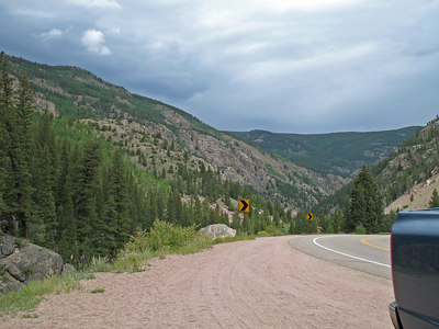 Upper Poudre Canyon, Hwy 14 in Colorado on the way to Cameron Pass and Walden, CO