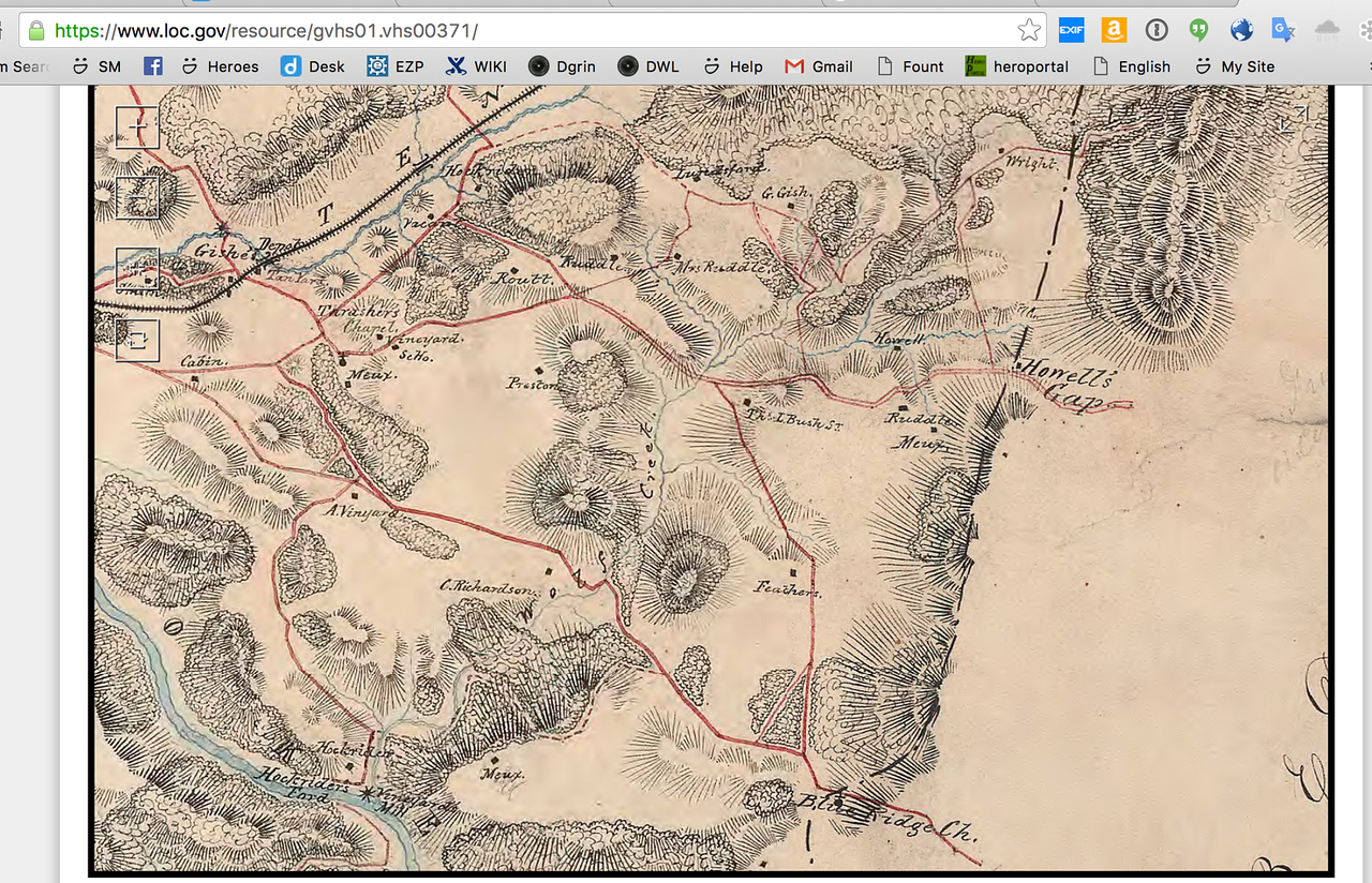 An early map of the area ~late 1800's